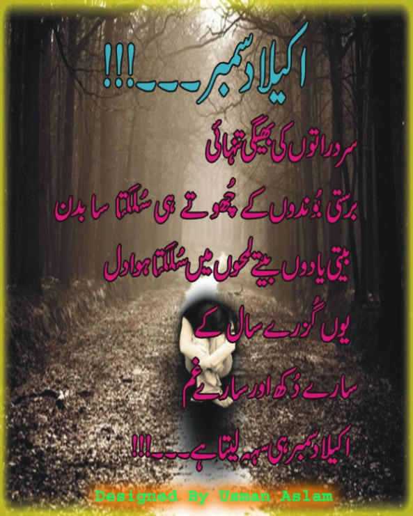 Akaila december december sad poetry