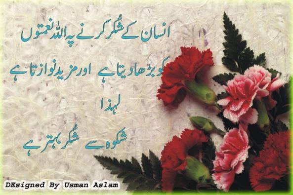Shukar- Islami Quotes